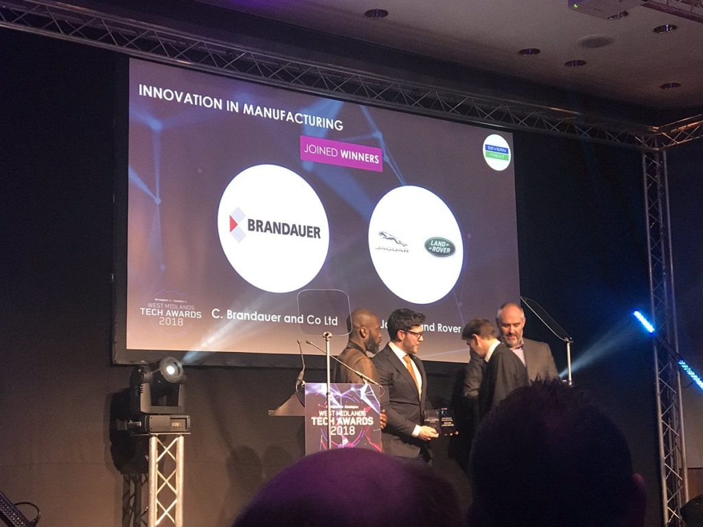 brandauer jaguar land rover tech awards